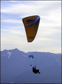 Paragliding in The Canadian Rockies. photo courtesy www.sitesatwork.com